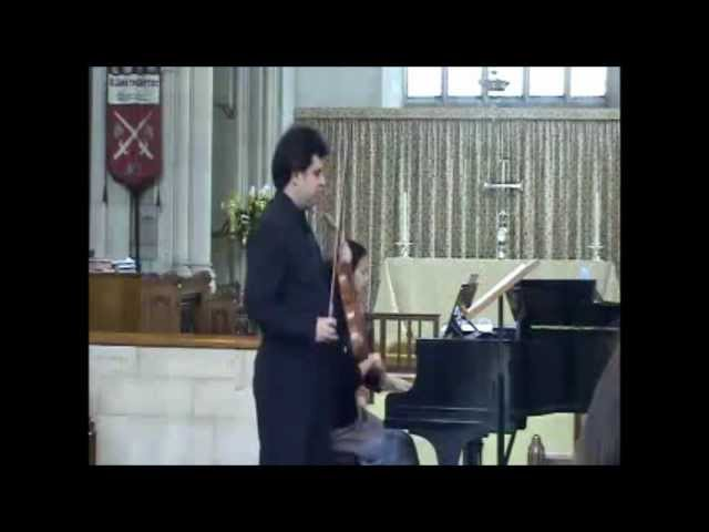 Vlad Bourceanu (violin), Jessica Chan (piano) - RAVEL Violin and Piano Sonata in G