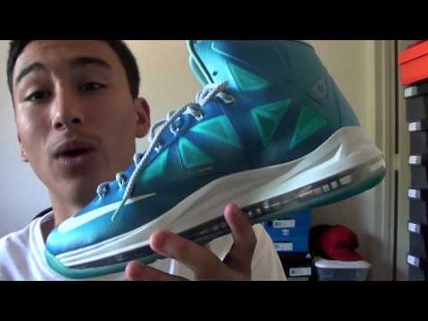 Lebron X Blue Diamond Pickup & On Feet Review