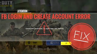 TUTORIAL TO FIX FB LOGIN PROBLEM IN COD:LEGENDS OF WAR | CREATE ACCOUNT ERROR