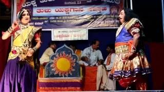 Yakshagana in Thulu Gejjeda Pooje Padya Puthige R Holla Artist K H Dasappa Rai and Sanjaykumar 3
