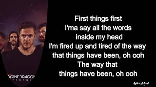 Imagine Dragons, Lil Wayne - Believer (Remix) LYRICS Video