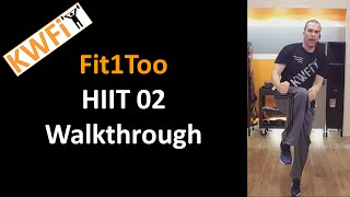 KWFit - Fit1Too - HIIT 02 - Walkthrough