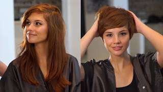 Dramatic Pixie Haircut Transformation with Emily Anderson | Fromm Pro