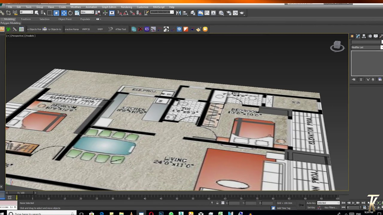 Without Cad Plan Only Image And Pdf On Create 3d Interior 3d Interior Design Easy Tutorial Youtube