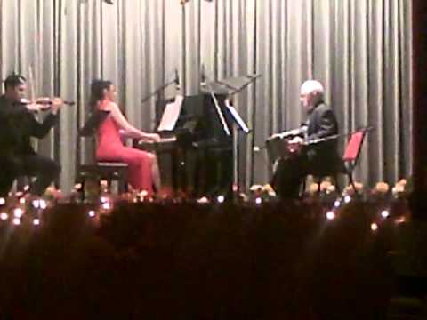 Tatjana Surev piano, Miguel Arrabal bandoneon, Riuben Frometa violin