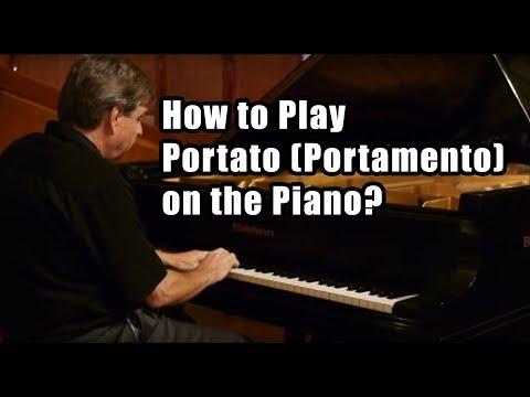 How to Play Portato (Portamento) on the Piano?