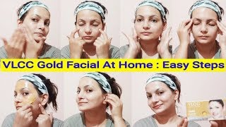 Step By Step : Easy 6 Step Facial At Home In Hindi | VLCC Gold Facial Kit |AlwaysPrettyUseful