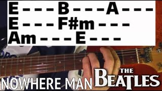 Nowhere Man - The Beatles - Guitar Lesson WITH TABS