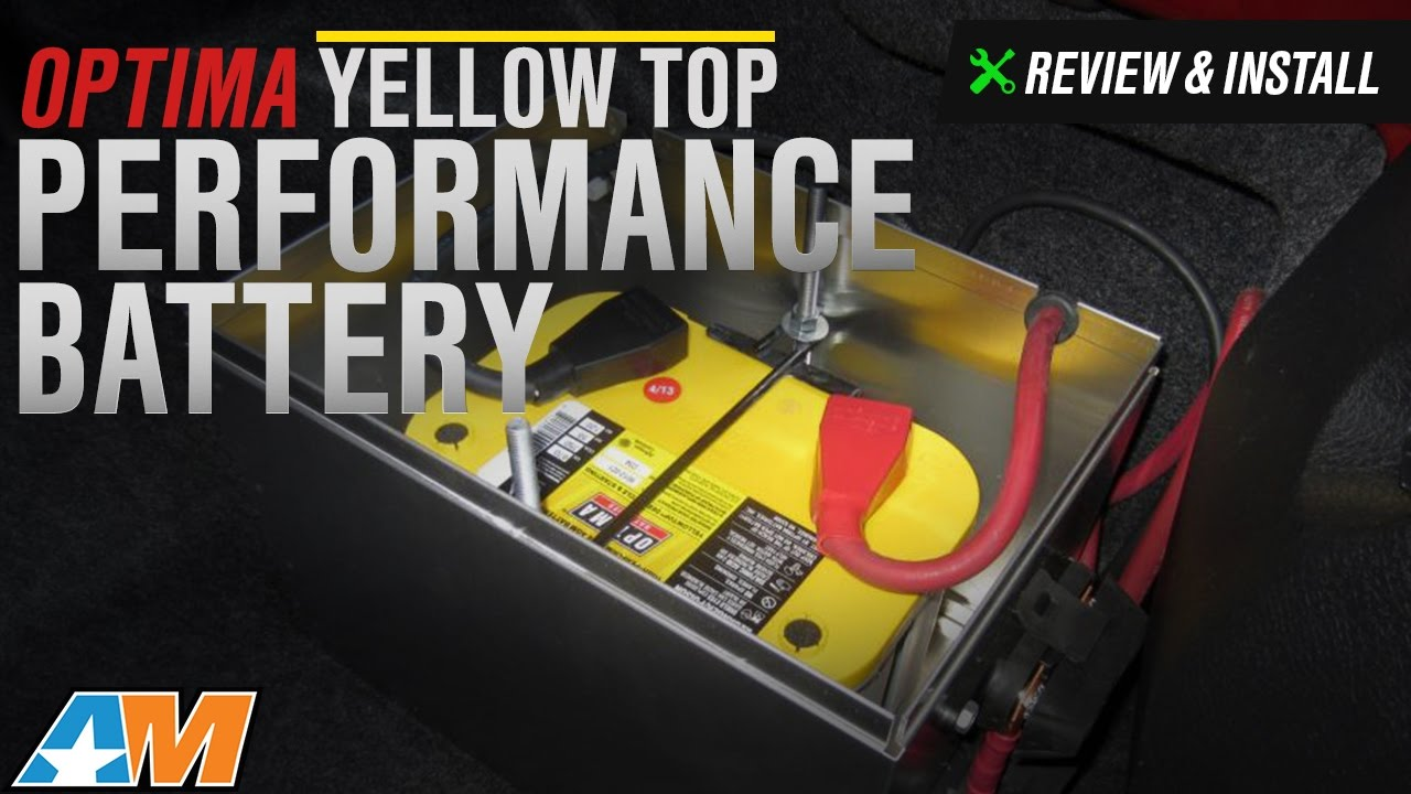 1979 2010 Mustang Optima Yellow Top Performance Battery Review Install