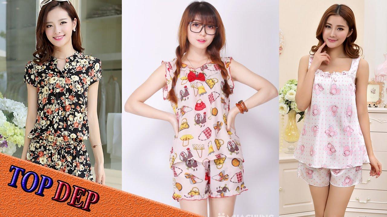 Top Mẫu đồ bộ mặc nhà đẹp dễ thương cho các bạn gái diện mùa hè