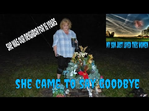 SPIRIT OF HER FRIENDS SON SPEAKS TO HER AT GRAVE...SO SWEET!!