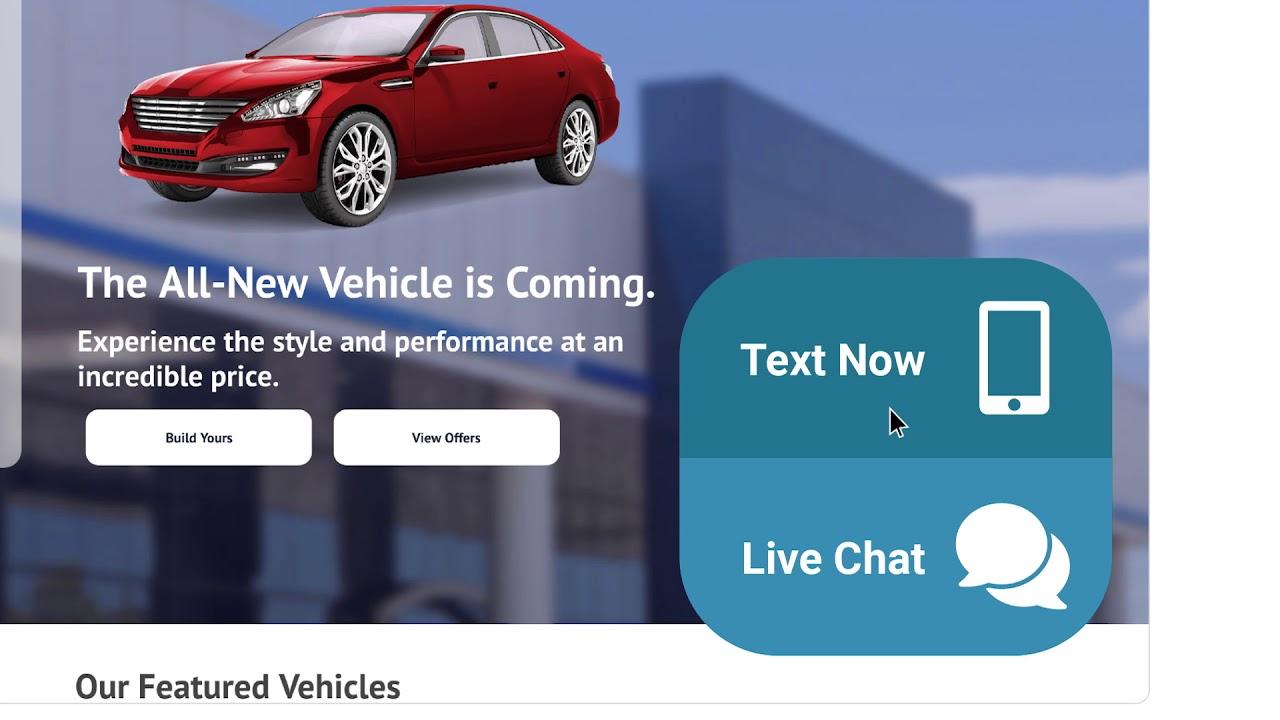 Car Dealership Online Web Chat Software   ActivEngage