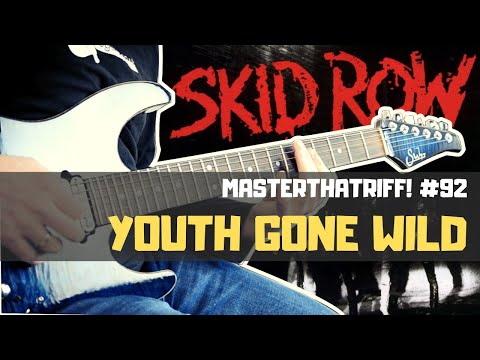 Youth Gone Wild  Skid Row  PLAY IT LIKE IT IS Riff Guitar Lesson wTAB  MasterThatRiff! 92
