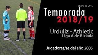 Urduliz 05 contra el Athletic femenino de la liga A de Bizkaia