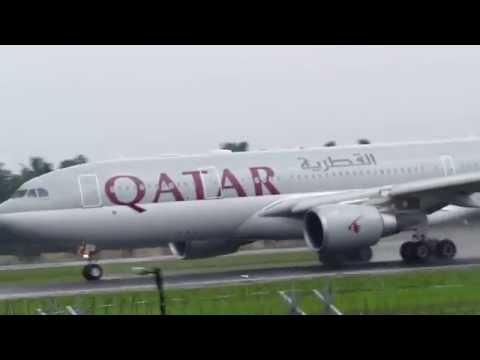 Qatar Airways A330 takeoff from Cochin International Airport