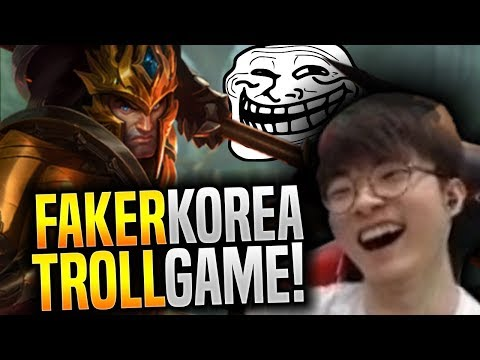 Faker in the Most Troll Game in Korea! - SKT T1 Faker Plays Jarvan IV Mid! | SKT T1 Replays