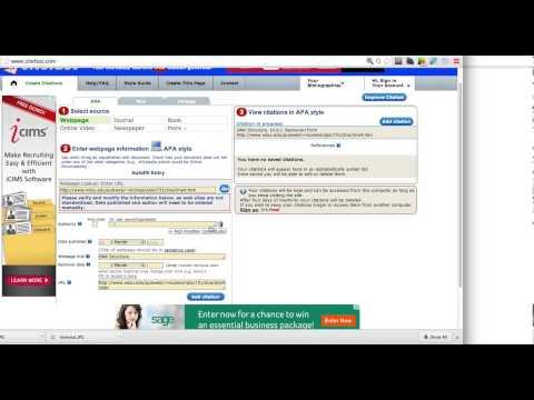 Citing a Web Page Citefast.com