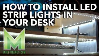 How To Install Led Strip Lights In Your Desk