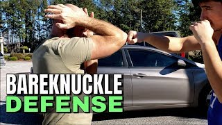 Bare Knuckle Boxing Defense | Self Defense Head Movement | Stop Flinching