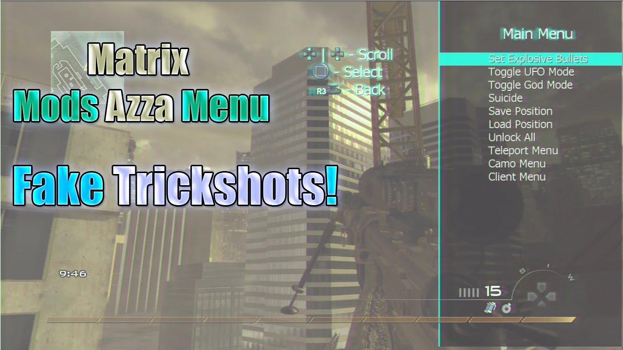 [1 14/MW2] Azza Sprx Mod Menu (DEX) + Download MatrixMods Mw2 Azza Menu,  SPRX Mod Menu