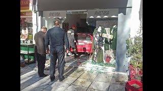 Εισβολή αυτοκινήτου σε κατάστημα του Κιλκίς-Eidisis.gr webTV
