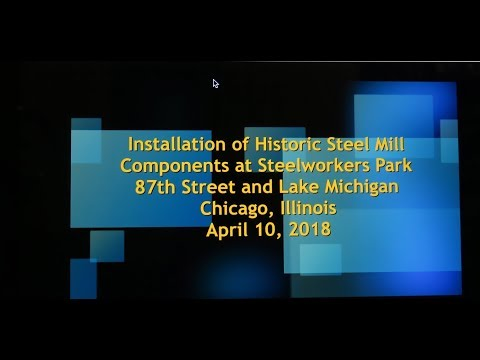 041018 Installation of Historic Steel Mill Components at Steelworkers Park V3