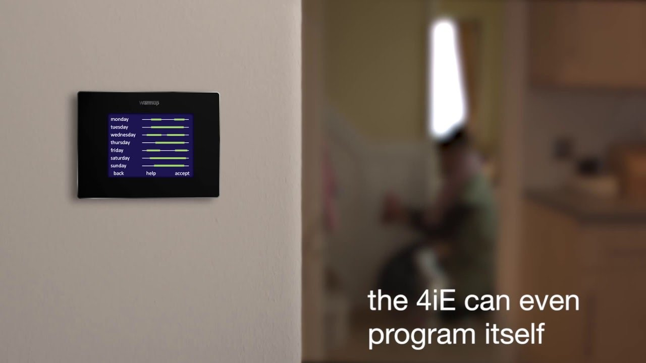 Introducing The New Warmup 4ie Smart Wifi Thermostat Youtube