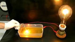 Experiment electricity with saltwater