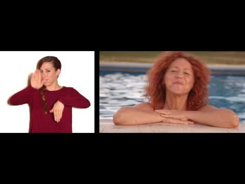Dàmaris Gelabert - ANEM A LA PISCINA en llengua de signes