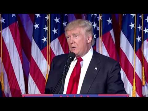 President elect Trump promises to be President for all Americans