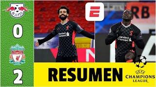 RB Leipzig 0-2 Liverpool. Goles de Salah y Mané rescatan a Klopp de la crisis | Champions League