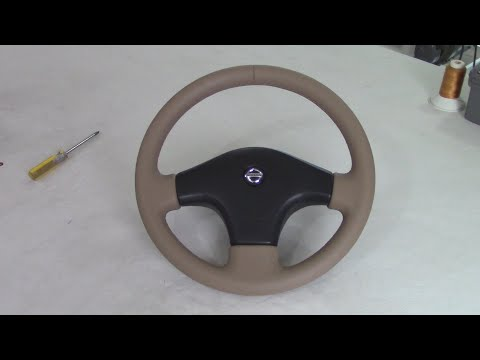 HOW TO LEATHER-COVER A THREE SPOKE STEERING-WHEEL - 1st Course
