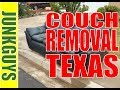 How to remove a couch and recycle it from North Dallas Texas / dfwjunkguys.com