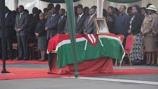 Body of Lucy Kibaki arrives from London.