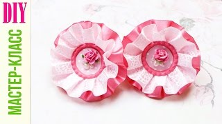 Милые БАНТИКИ из атласной ленты / Cute Hair Bows / DIY NataliDoma