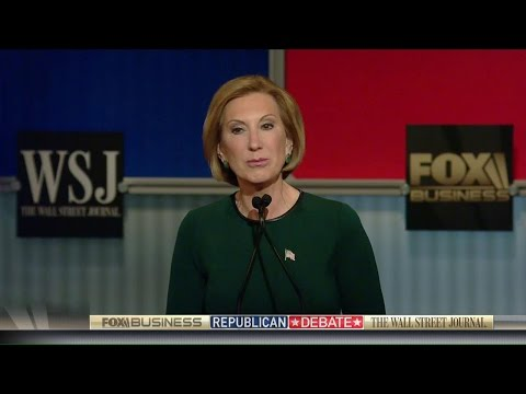 Carly Fiorina lays out her plans for economic recovery
