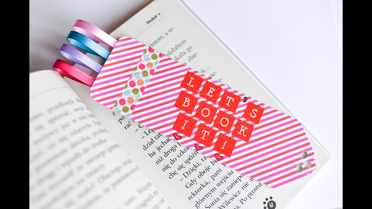 How to Make - Bookmark Great Gift - Step by Step | Zakładka Do ...