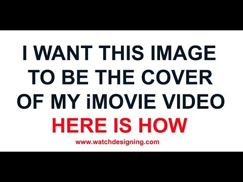 iMovie How to replace set video picture poster frame video MP3 MP4 files