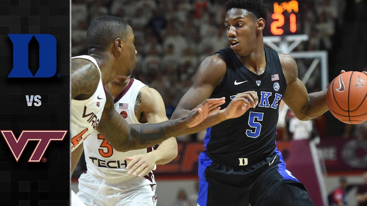 Duke vs. Virginia Tech Basketball Highlights (2018-19 ...