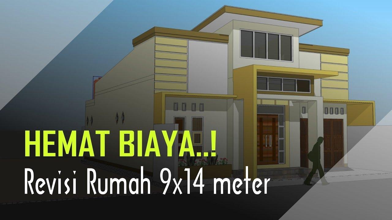 LEBIH HEMAT BIAYA..! Revisi Rumah 9x14 Di Lahan 10x15 Meter - YouTube