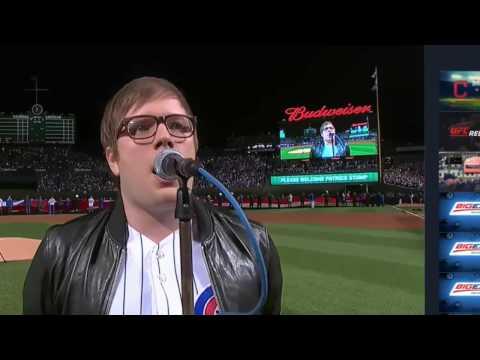 Pete Wentz's Snapchats & Patrick Stump singing the National Anthem at the World Series