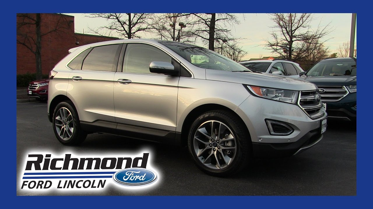 Richmond Ford Lincoln >> What is all this New Technology in the 2017 Ford Edge? - YouTube