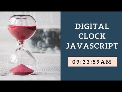 How To Make A Digital Clock In JavaScript HTML CSS3 | JavaScript Tutorials | Web Tutorials