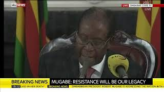 Robert Mugabe refuses to resign