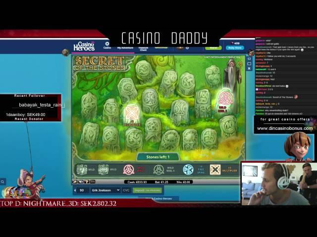 Secret of the stones - 512x Big win - Casino slot