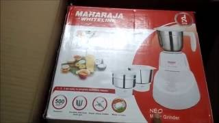 Maharaja Whiteline NEO Mixer Grinder Unboxing and reviews