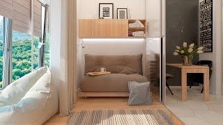 Дизайн интерьера однокомнатной квартиры в стиле функциональный минимализм.