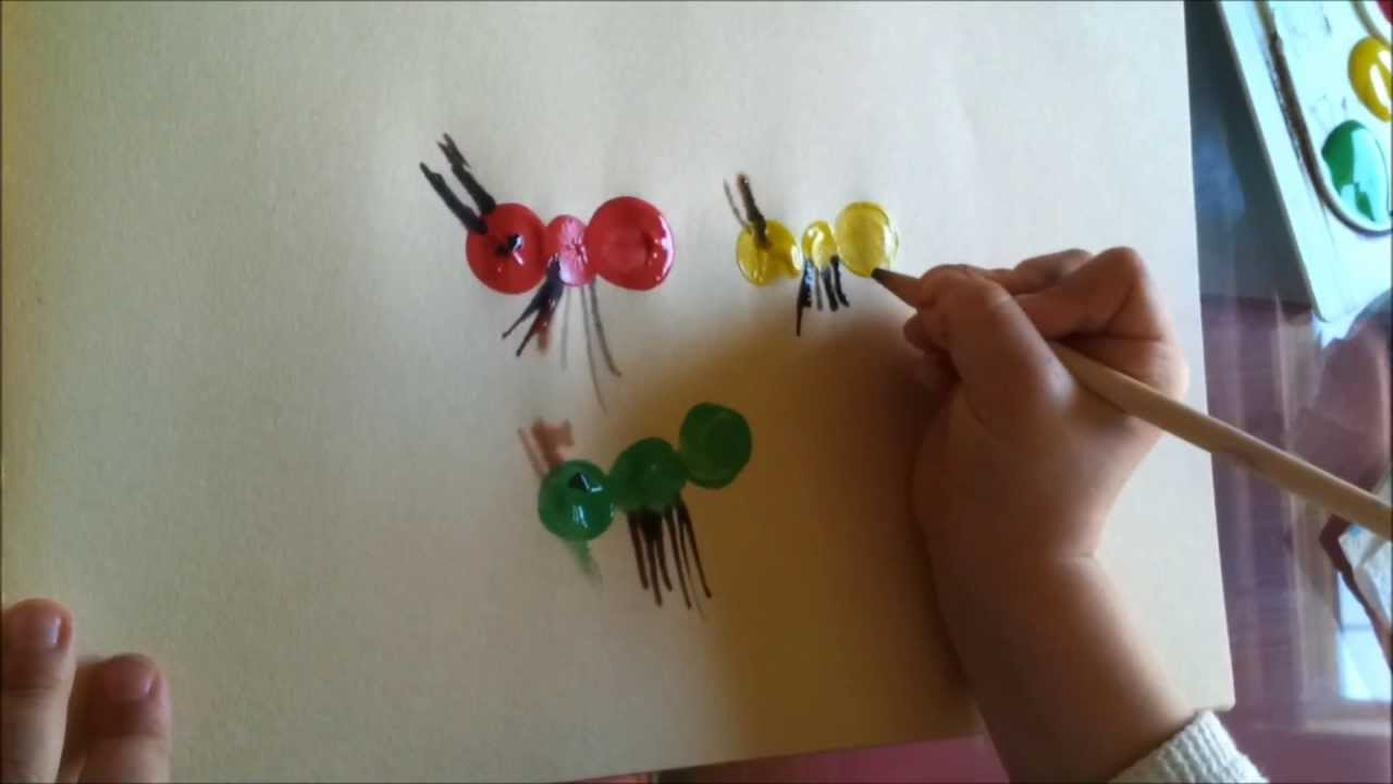 kids learning art work kids art water color painting ants art easy