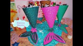 Dulceros colas de sirenas/ mermaid favor party