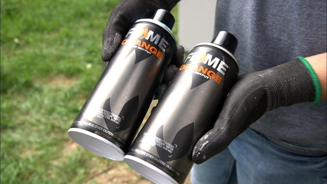 FLAME ORANGE spray paint and cap review